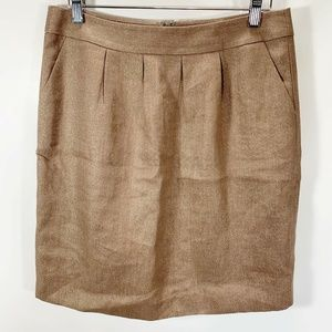 Halogen 10 Skirt Gold Metallic Sparkly Holiday